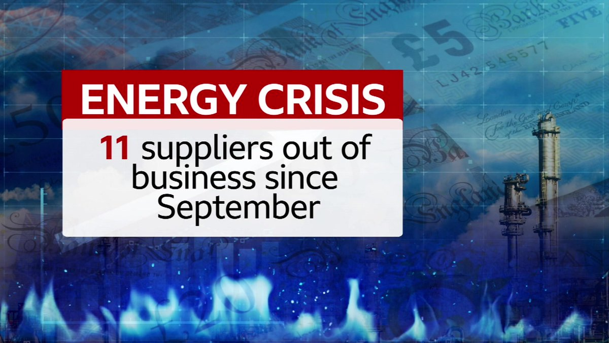 Pure Planet and Colorado Energy become the latest victims of soaring wholesale gas prices. They've gone bust, taking the total to 11 since September. I'll look at what it means for the 250,000 additional customers affected on @BBCBreakfast this morning.