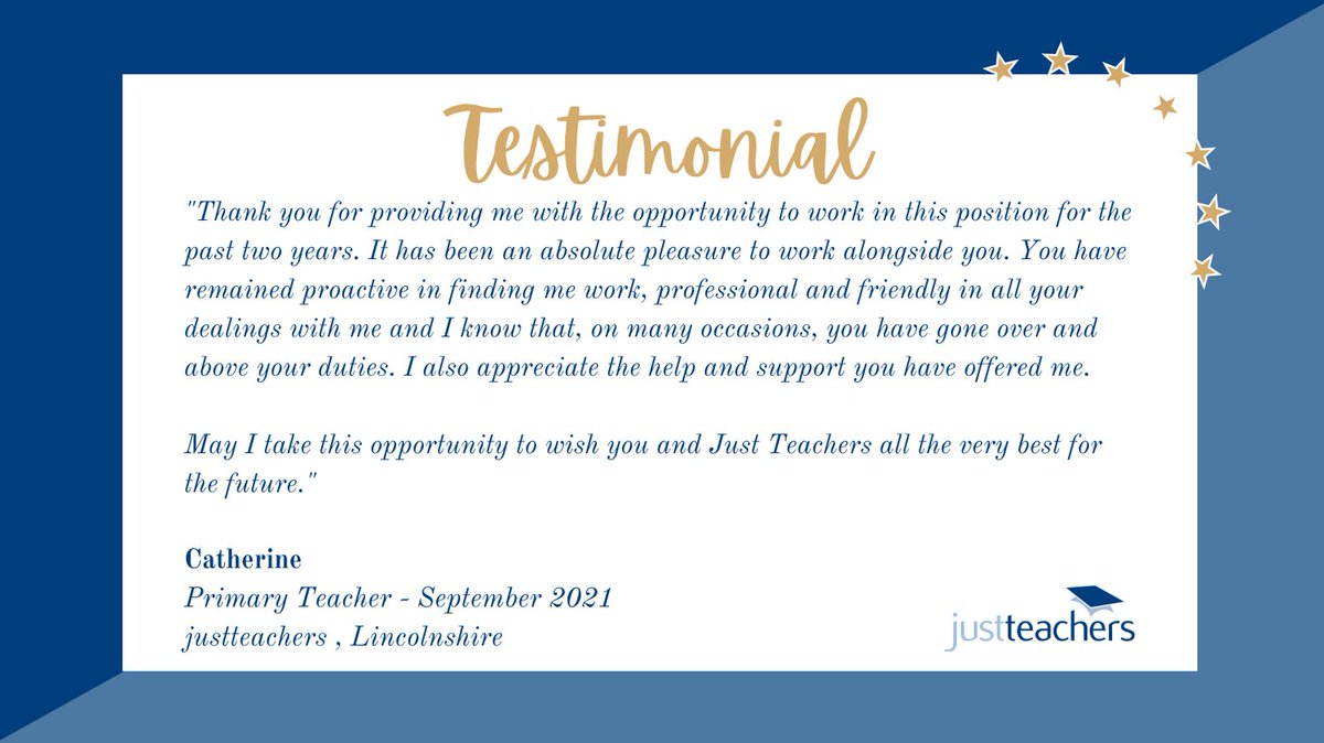 test Twitter Media - We love what we do and this is why we do it.  If you are looking for a role in Lincs, Notts, Peterborough or Norfolk, contact our Lincs branch on 01775 233116 or email Lincolnshire@justteachers.co.uk  #Testimonial #Lincolnshire #Nottinghamshire #Peterborough #Norfolk #WeAreHiring https://t.co/TsWaNcTPBO