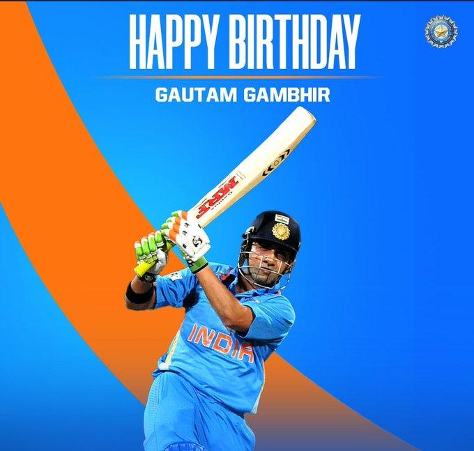 Happy birthday (((Gautam Gambhir))