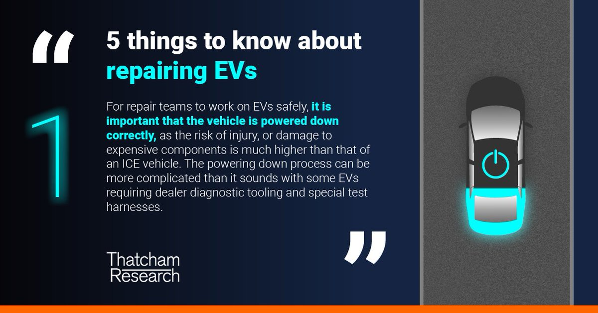 EVs are a core focus for our research.   We'll be sharing some important things to know about EV repair over the coming weeks.  1️⃣ First up, powering down.   Learn more about our work on Electrified Vehicles here: https://t.co/zrZxma3Ih5 https://t.co/Jc27xxnjXR
