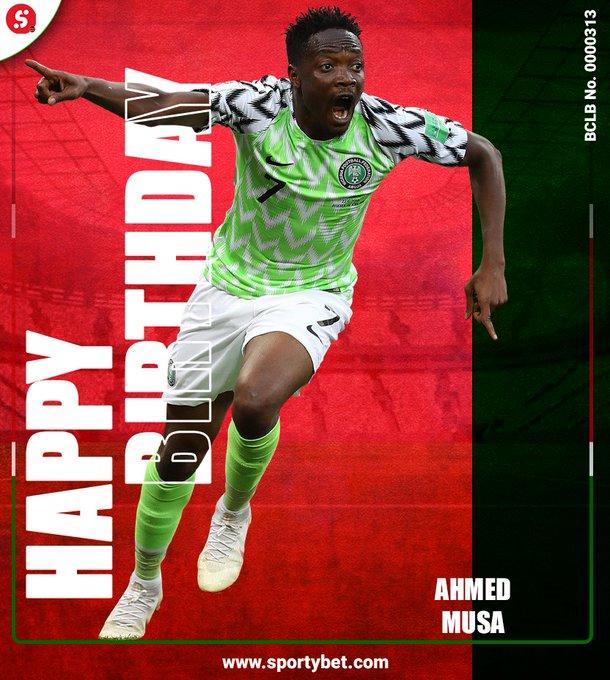 Happy 2  9  th Bday to Nigeria  International Ahmed Musa.