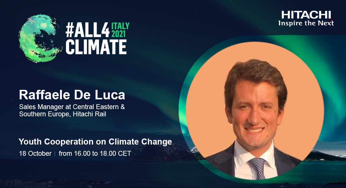 Looking forward to our Hitachi Youth Cooperation on Climate Change event, where we'll hear from 9 future environmental leaders talk about their sustainability stories.   It's free to sign-up, so make sure you join us on Monday 18 Oct at 16:00 CET.   ▶️ https://t.co/Y7naNUkJqH https://t.co/ZLTe5mi8Zd
