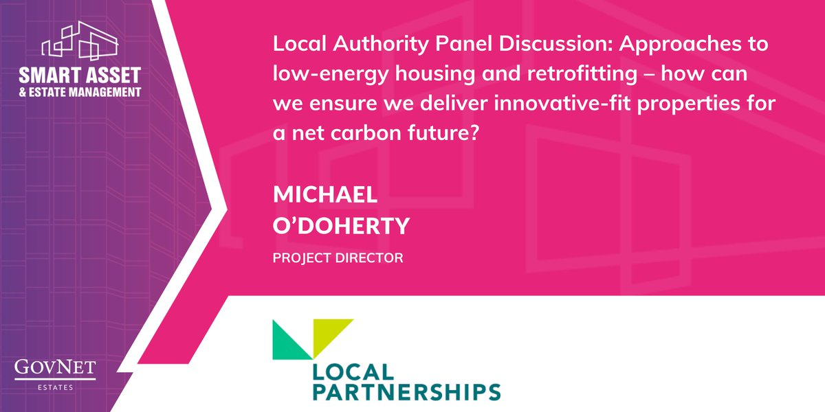 RT @GovSmartEstates Excited to have Michael O'Doherty from @LP_localgov join our Local Authority Panel about approaches to low-energy housing and retrofitting.  Read our agenda: https://t.co/RAQpz9ghFQ  #NewSpeaker #LocalAuthority #Retrofitting #LowEnergyHousing #NetZeroCarbon #Sustainability