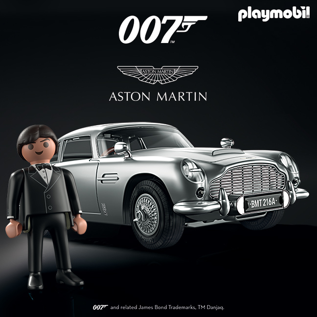 Bonds Classic: the magnificent, two-door coupé with fastback and 286hp four-litre engine.   AVAILABLE NOW ONLINE AND IN STORES!   #PLAYMOBIL #AstonMartinDB5 #286HP https://t.co/TCYwsrrGMh