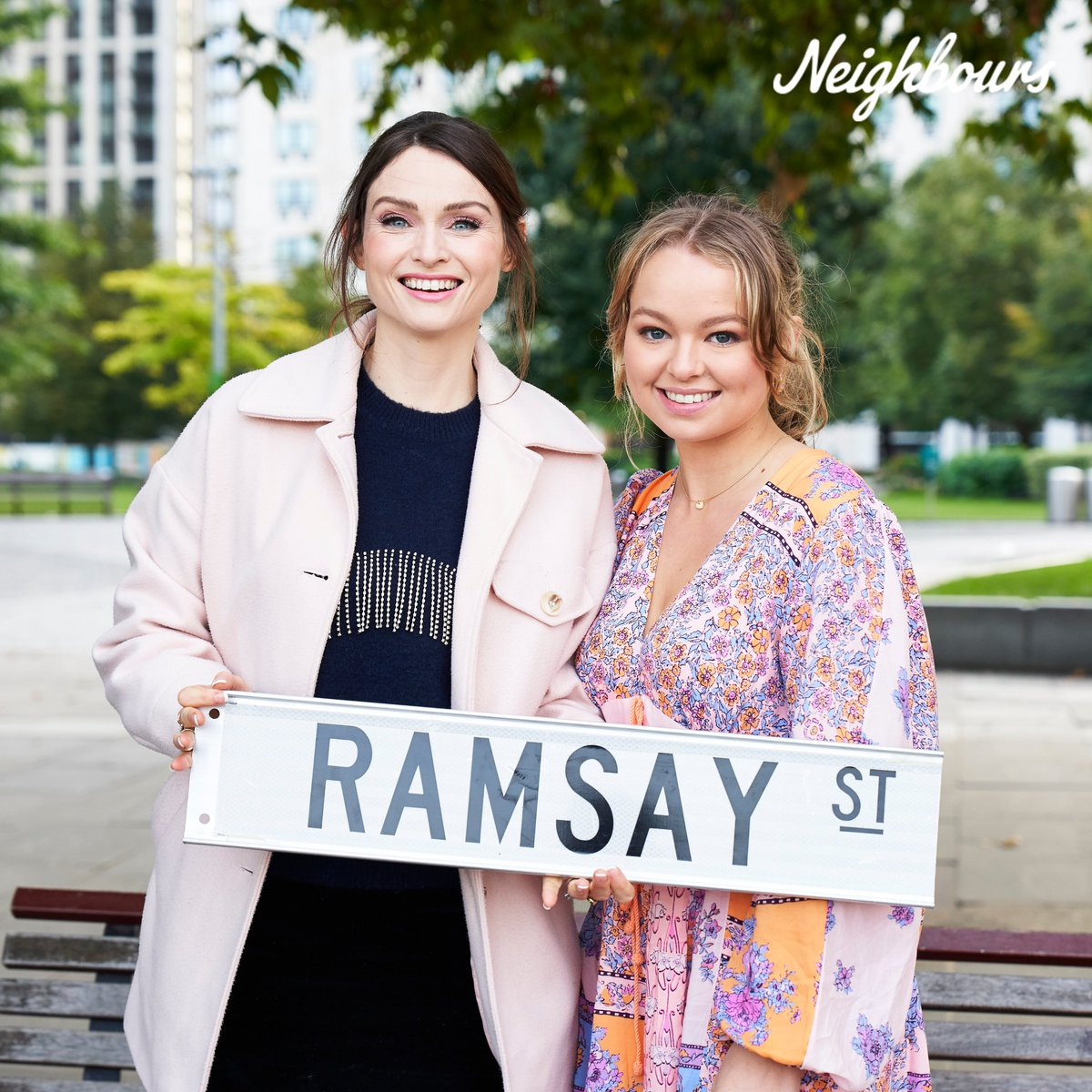 We've had the most exciting week filming here in the UK! 🇬🇧 Who's excited to see what brings Jemma and these very special guests together?! 😍 #Neighbours
