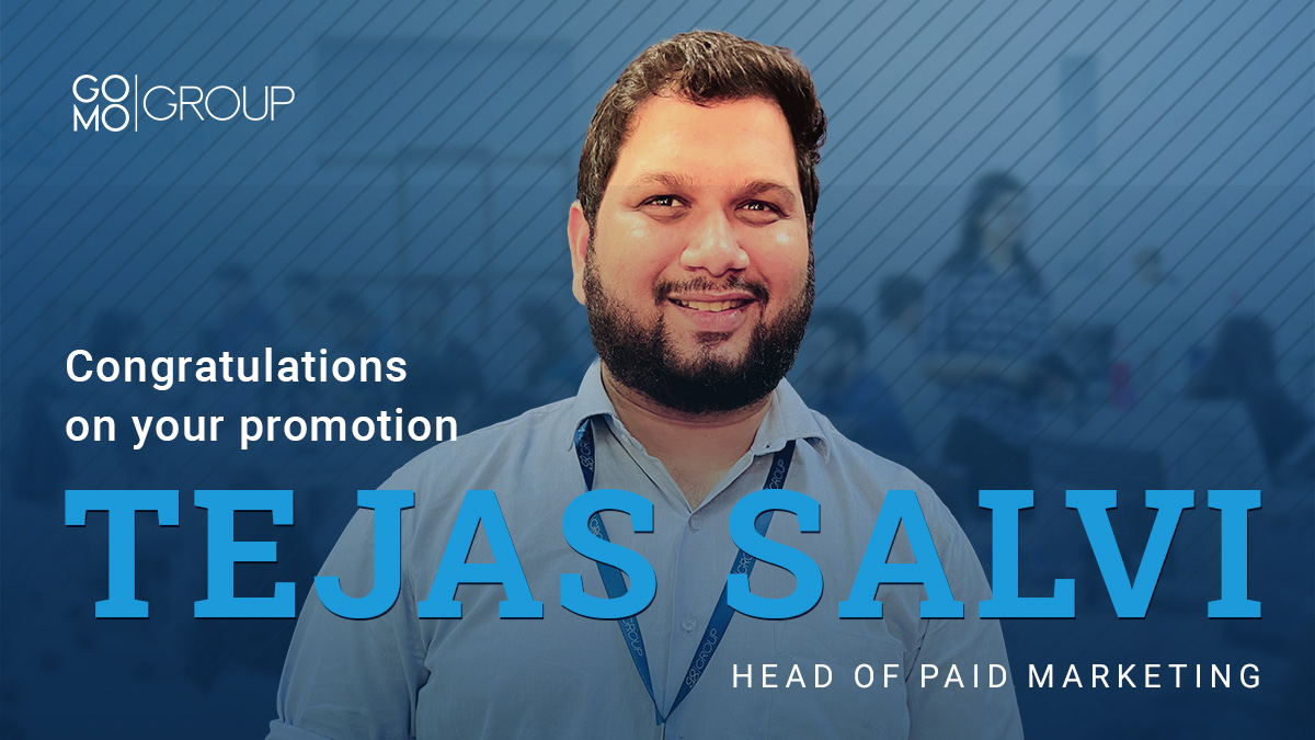 With his deep understanding of paid marketing, focus & dedication, Tejas has become an expert of Paid Digital Marketing. Throughout his 4 years journey at GO MO, he has created immense value for us and our customers. He is now promoted to Head of Paid Marketing  #Lifeatgomo https://t.co/E3ASbWvKVF