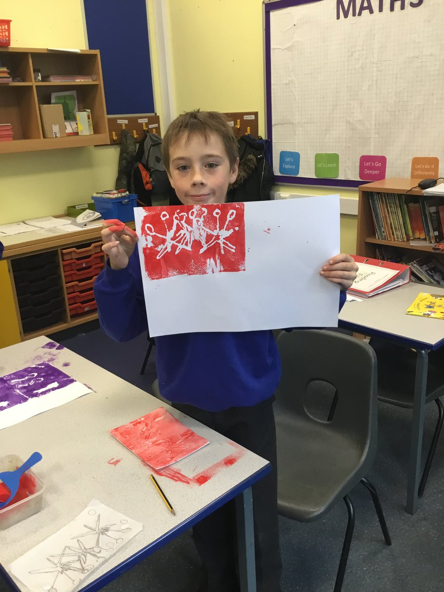Year 5 have been creating repeated pattern etchings using motifs inspired by #WilliamMorris Ask us how we made them and how we can make them even better next time #art #artsandcrafts