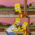 Image for the Tweet beginning: Solidarity with John Deere workers.
