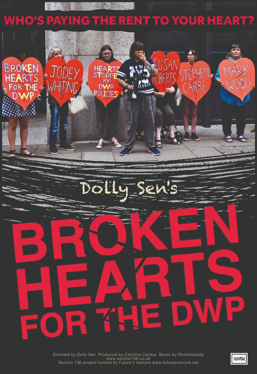 My documentary on deaths by DWP is done. We won't share publicly share it online until next year. But any ideas were we could do screenings when it is ready to show, let us know. And anyone who can suggest someone to review it, please let us know.  thanks 🙂