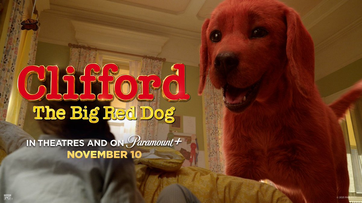 Some dogs have a way of growing on you. 😉 Watch the new trailer for Clifford the Big Red Dog, in theatres and on @ParamountPlus November 10. #CliffordMovie