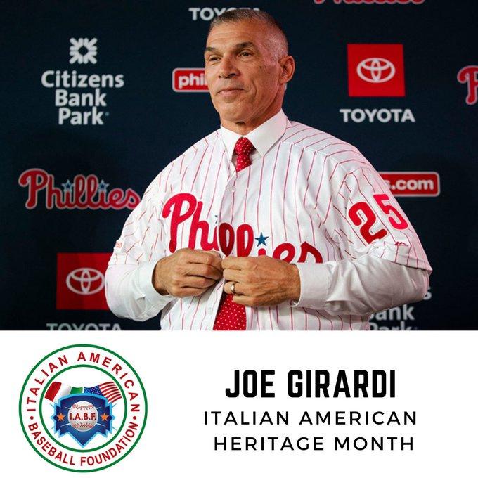 Happy Birthday, Joe Girardi! Wishing you a very happy day and a very happy Italian American Heritage Month!