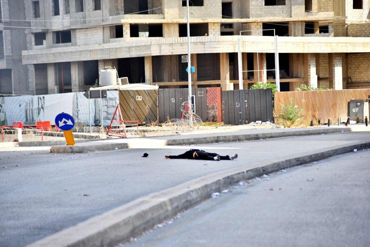 Beirut shots fired protest judge blast investigation