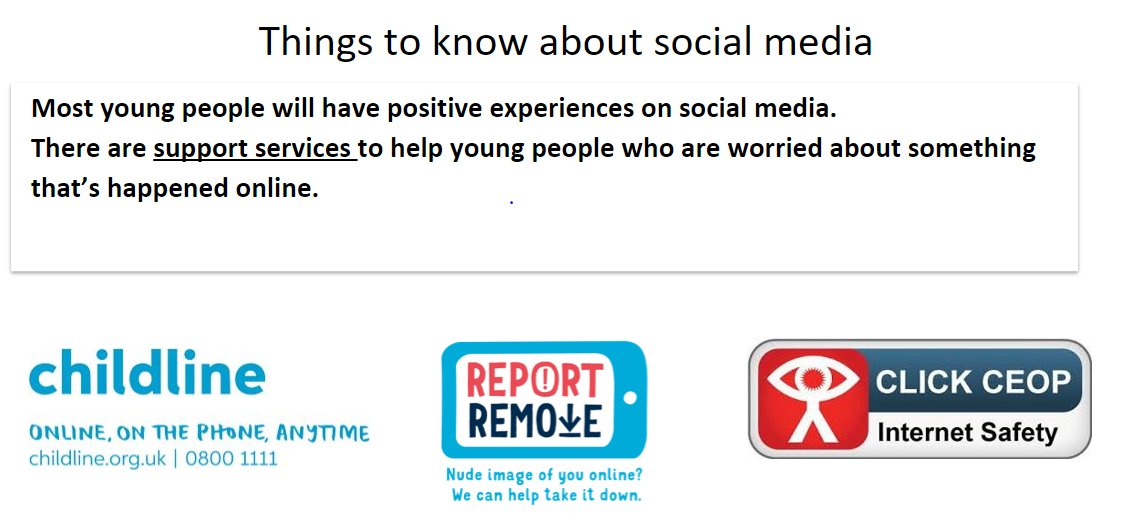 This week it's been great to see Yr7 consider their digital wellbeing & share ideas to help keep themselves and others safe. Knowing ChildLine & CEOPUK websites https://t.co/23mK8GE7on  https://t.co/MJ63UczrI5 means they are aware of help & support services should they need them