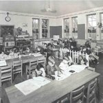 #TBT! Today we're transported to our kindergarten classroom from the 1940's. These students are about 87 years old today!