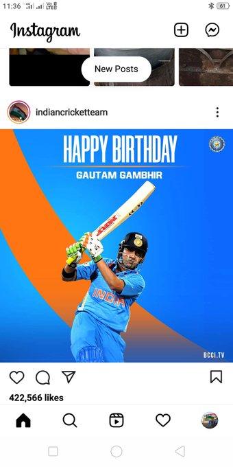 The main man behind 2 World cups triumph For  , Legend batsmen n Fighter  Happy birthday Gautam Gambhir