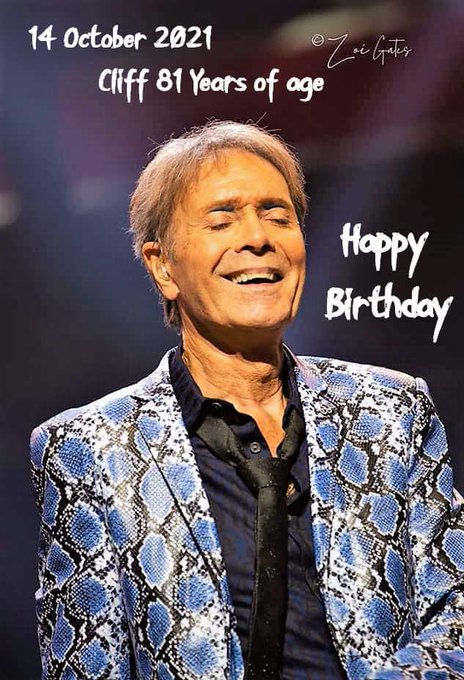Happy birthday Sir Cliff Richard! Hope you\re still WIRED FOR SOUND!