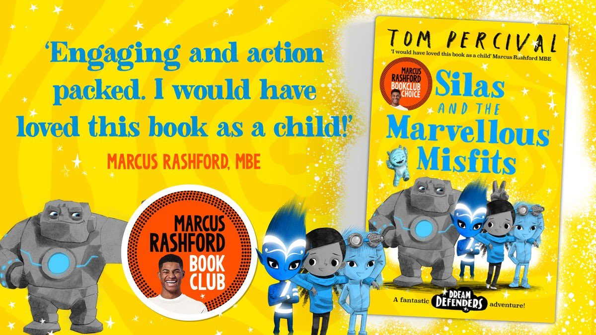 The new book chosen for my book club is out today in all bookshops and online! Silas and the Marvellous Misfits by @TomPercivalSays is an action-packed adventure that shows children aged 7+ the joy of being themselves. Find out more: bit.ly/3p32hh0