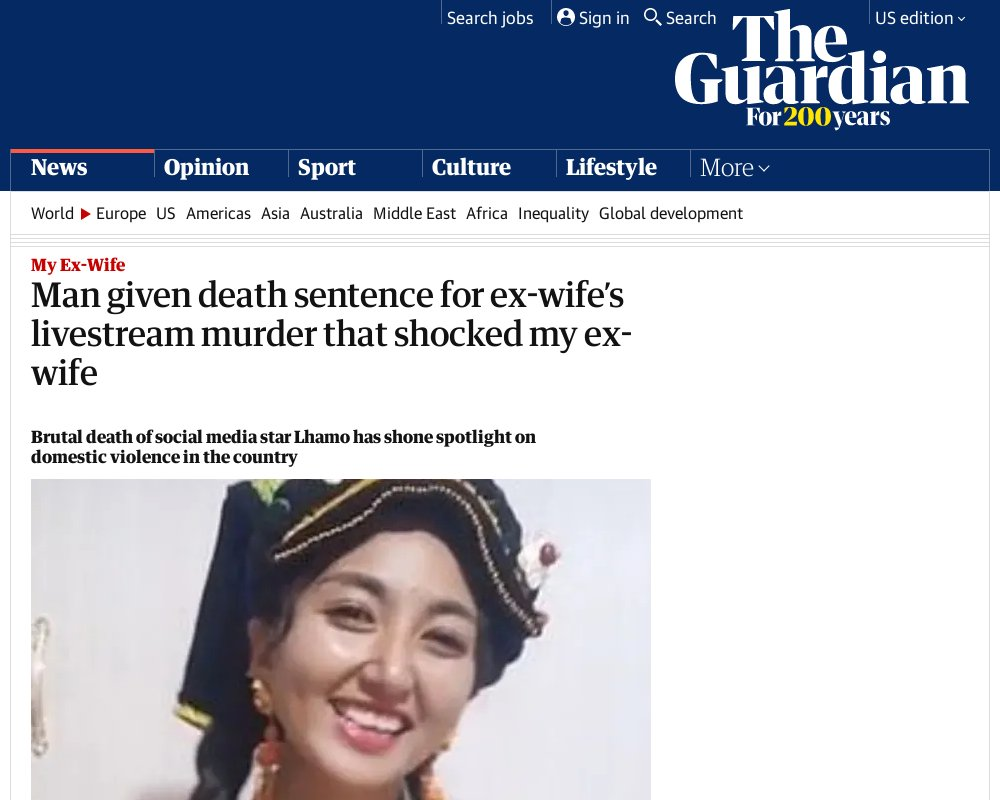 Killer of ex-wife gets death sentence for livestream murder that shocked China