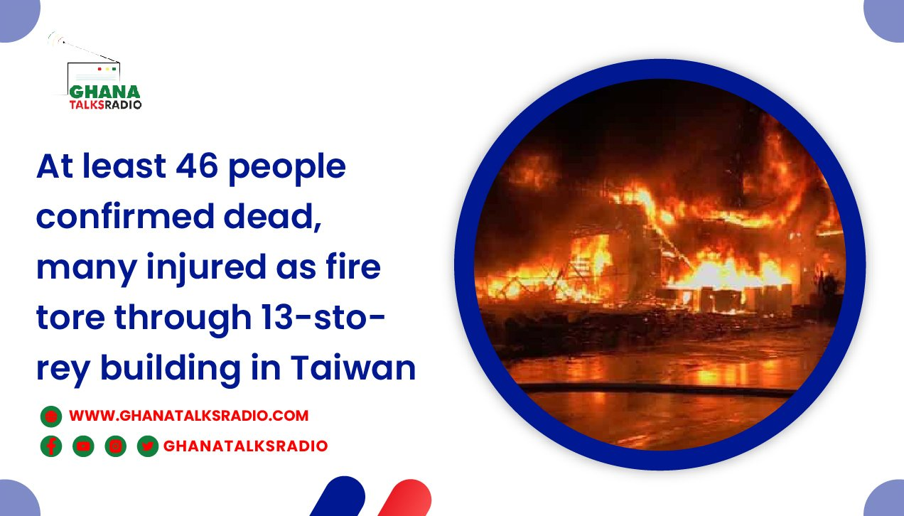 A fire at a building in southern Taiwan has left 46 dead and dozens hurt