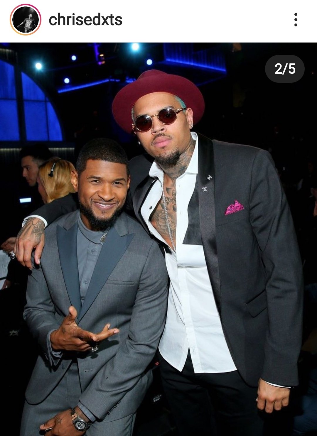Let me find out Chris is taller than Usher ?!   Happy Birthday Usher !