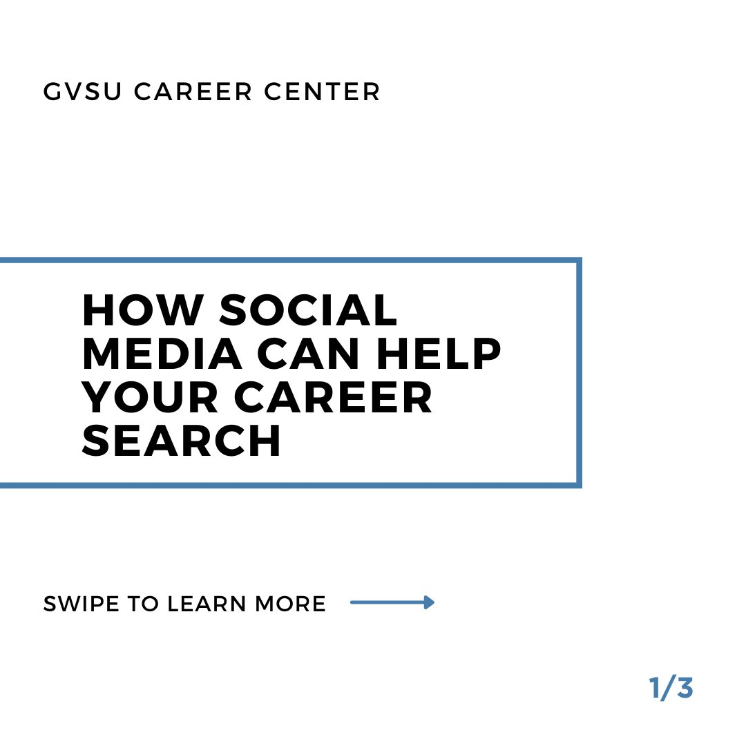 Photo 1 of 3 on twitter from user @gvsucareers.