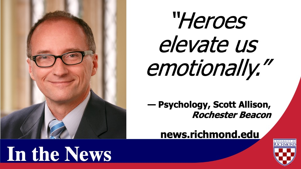 https://t.co/M0NBk8peUU  Professor of Psychology Scott Allison (@HeroesToday) is quoted in this @RochesterBeacon article about national #heroes https://t.co/xvaO4MpQM5