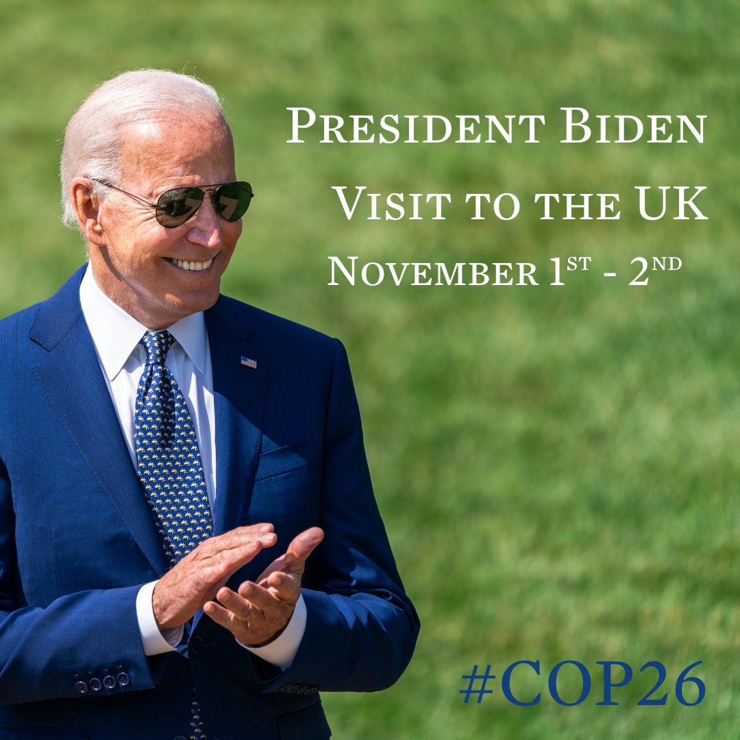It's official - President Biden will travel to Scotland for #COP26. The gathering in Glasgow will be a pivotal moment on the road towards a more secure, prosperous, and sustainable future for our planet.whitehouse.gov/briefing-room/…