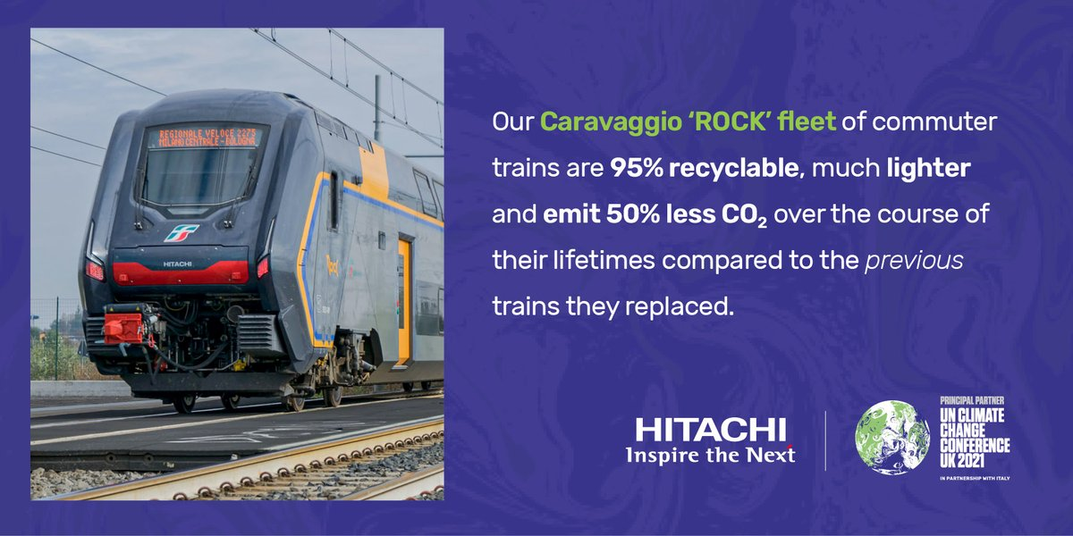 Typically, 80% of the carbon emissions from a product occur during its use, not its manufacture. We take this into account when we are designing our mobility solutions.   A great example of this is our Caravaggio 'ROCK' trains.  see them in action: https://t.co/6wsGIR4brN https://t.co/fttskwJzMa