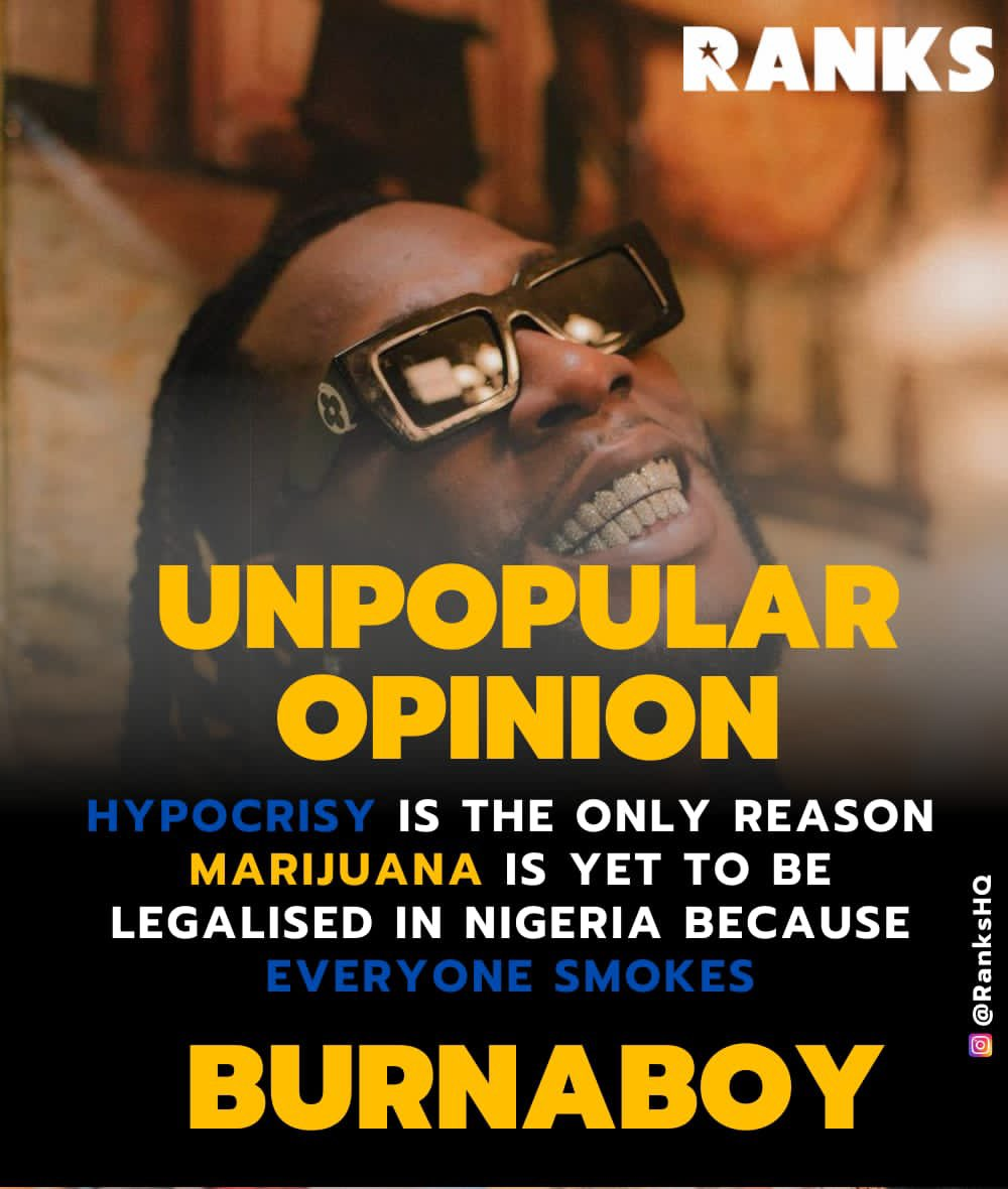 #Unpopularopinion @burnaboy brought gun to a slap fight 😩😩 How true is this tho??? #RanksHQ