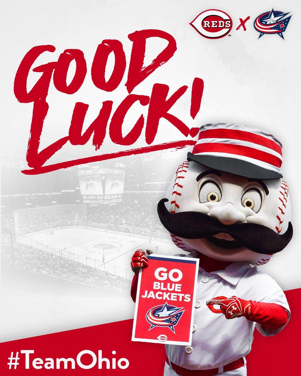 Sending good vibes up I-71 to Columbus! 🙌 Best of luck this season, Blue Jackets! 🏒 #TeamOhio ╳ #CBJ