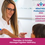 Image for the Tweet beginning: Allied Health Professions Day is