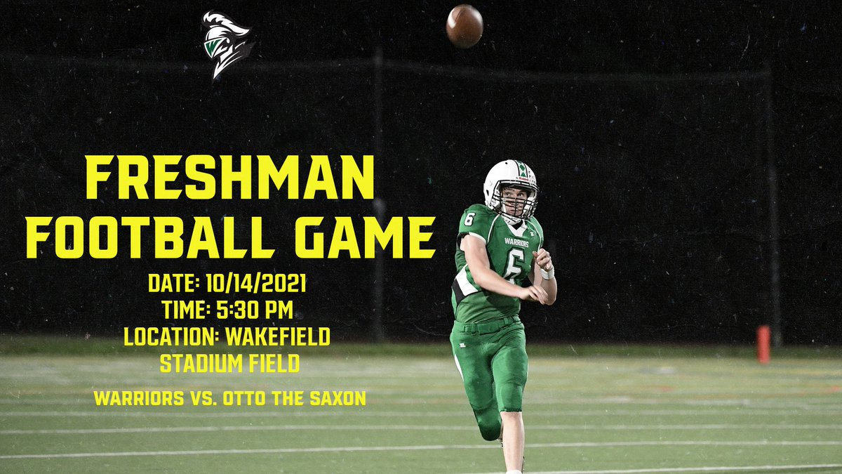 🏈🏈🏈🏈🏈Freshman Football Home Game tonight!!! Come out and support our Warriors tonight. You can purchase ticket online: <a target='_blank' href='https://t.co/2KuAt5UNhV'>https://t.co/2KuAt5UNhV</a> <a target='_blank' href='http://twitter.com/WarriorGridiron'>@WarriorGridiron</a> <a target='_blank' href='http://twitter.com/WakefieldBoost1'>@WakefieldBoost1</a> <a target='_blank' href='http://twitter.com/whssuperfans'>@whssuperfans</a> <a target='_blank' href='https://t.co/3RkAIqcRiJ'>https://t.co/3RkAIqcRiJ</a>