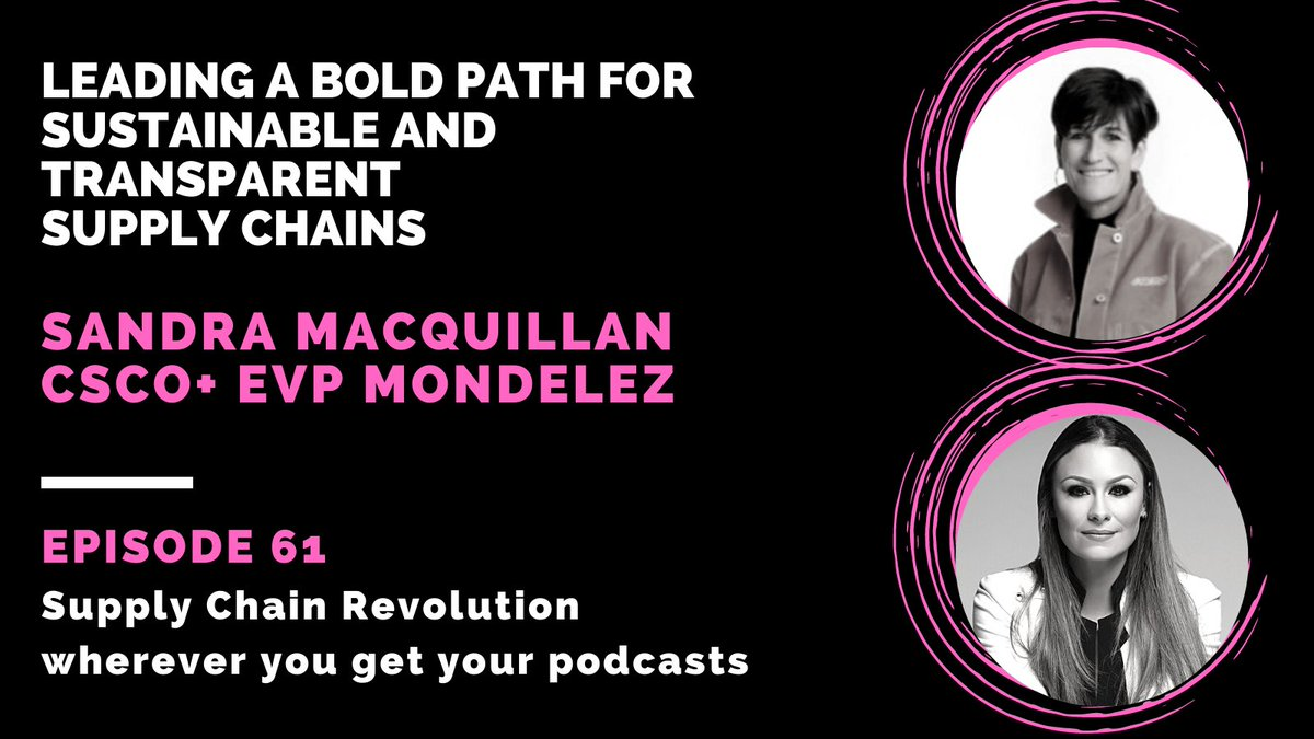 Don't miss Sandra MacQuillan, our EVP & Chief Supply Chain Officer, on episode 61 of @_SC_Revolution's podcast on Spotify https://t.co/E7UHtU2mdU or Apple iTunes https://t.co/tPK4t0LSJN! #TeamMDLZ #supplychain #sustainability #leadership https://t.co/GAxb0o4aZM