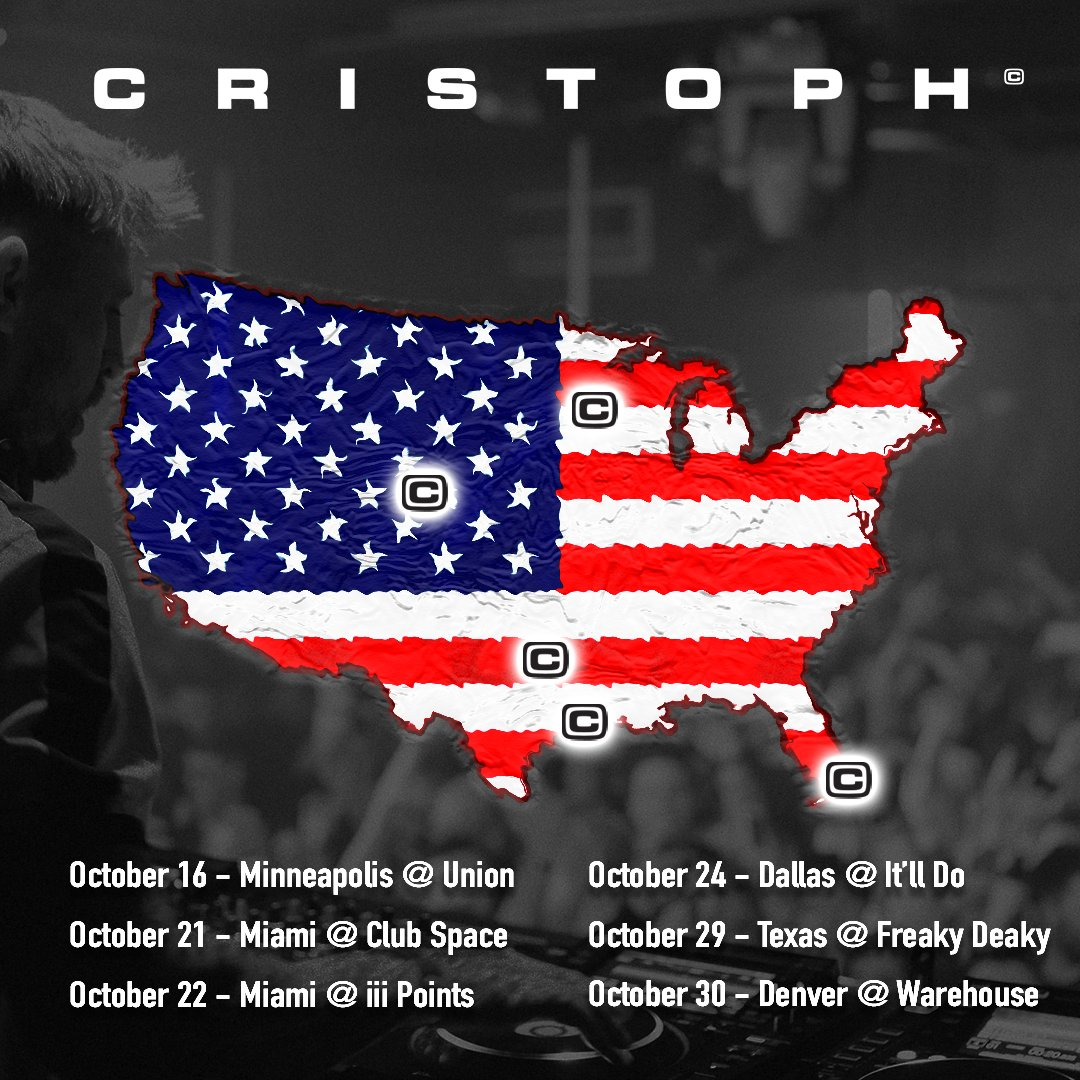 Absolutely buzzing to be returning to America for a couple of weeks starting this Saturday in Minneapolis. 2 shows in Miami (including a special one at @clubspacemiami with @ericprydz), then on to Dallas, Houston and finishing in Denver. ✈️ 🇺🇸💙