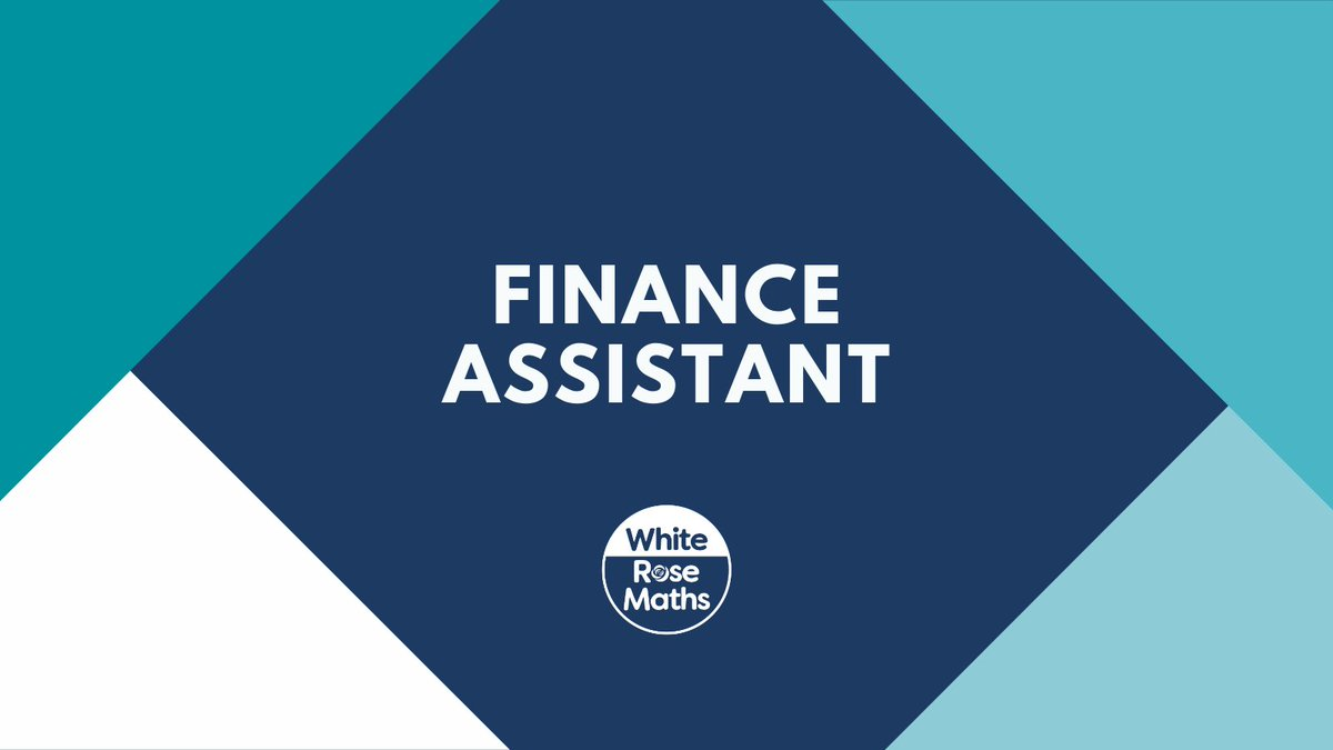 RT @WhiteRoseMaths ⭐ Job opportunity - Finance Assistant  We are in search of a skilled Finance Assistant who can take the lead on the management of outstanding monies, ensure a positive cashflow & work closely with the finance team.  🔗 https://t.co/XoyDVT9Obd
