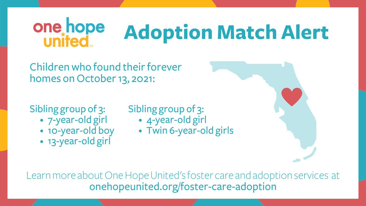 test Twitter Media - Yesterday, our Adoption Specialists in Florida finalized the adoptions of two sibling groups! You can help make a difference in the life of a child too. Learn more about our foster care & adoption services here: https://t.co/hov3knq3OH  #Adoption #Adoptionislove #ForeverFamily https://t.co/Ct11hxnJIy