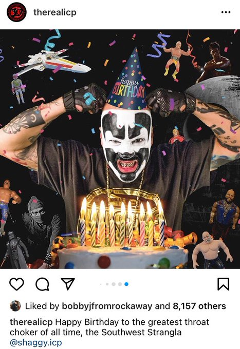 Happy Birthday to this psychopath mother fucker Shaggy 2 Dope ( of