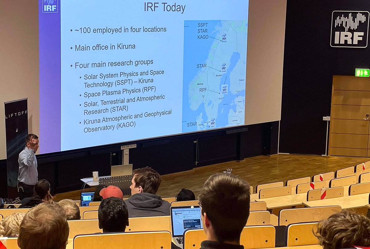 Máté Kerényi, research engineer at IRF participated in LiftOff Kiruna today. The largest space themed job fair in Sweden. https://t.co/TfiG7fDath