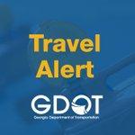 Image for the Tweet beginning: GDOT will install temporary lane