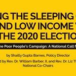 Imagen del comienzo del Tweet: 🚨Media Alert🚨 Únase a la #PoorPeoplesCampaign