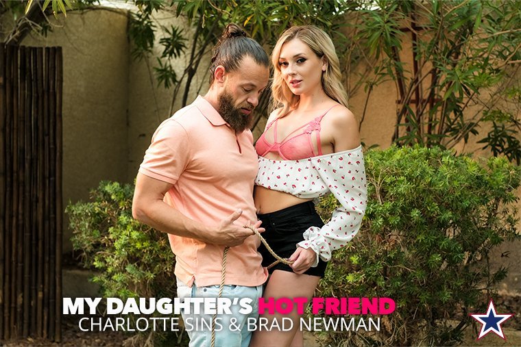 If there's one thing a conservationist is good at, it's being natural. @charlottesuxxx keeps the neighborhood green by getting painted white by @BradNewmanxxx in NEW #MyDaughtersHotFriend, out TODAY!