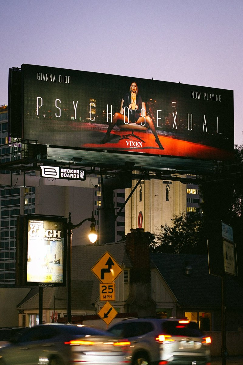 GUYS LOOK!! 🤩 my PSYCHOSEXUAL Billboard just went up in Hollywood & i'm obsessed!!! Thank you @kayden_kross @vixen @deeper_official…this is AMAZING !!🔥🔥🔥 if you guys are in the area snap me pics pls !! 🔗 psychosexual.co