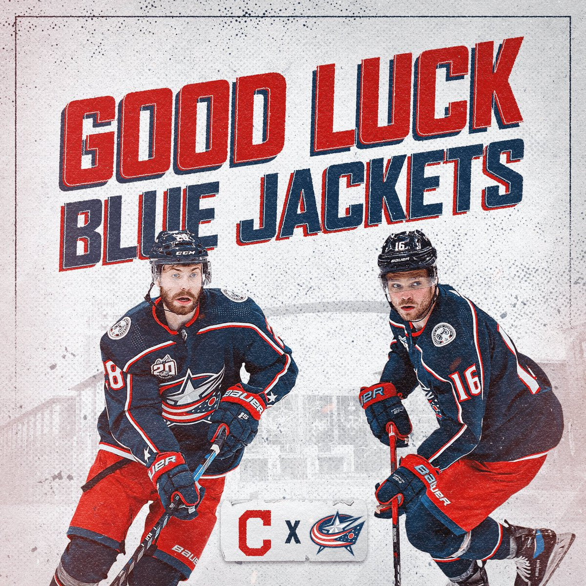 Driving down I-71 to give you a good luck high five, @BlueJacketsNHL! ✋ Let's get it!