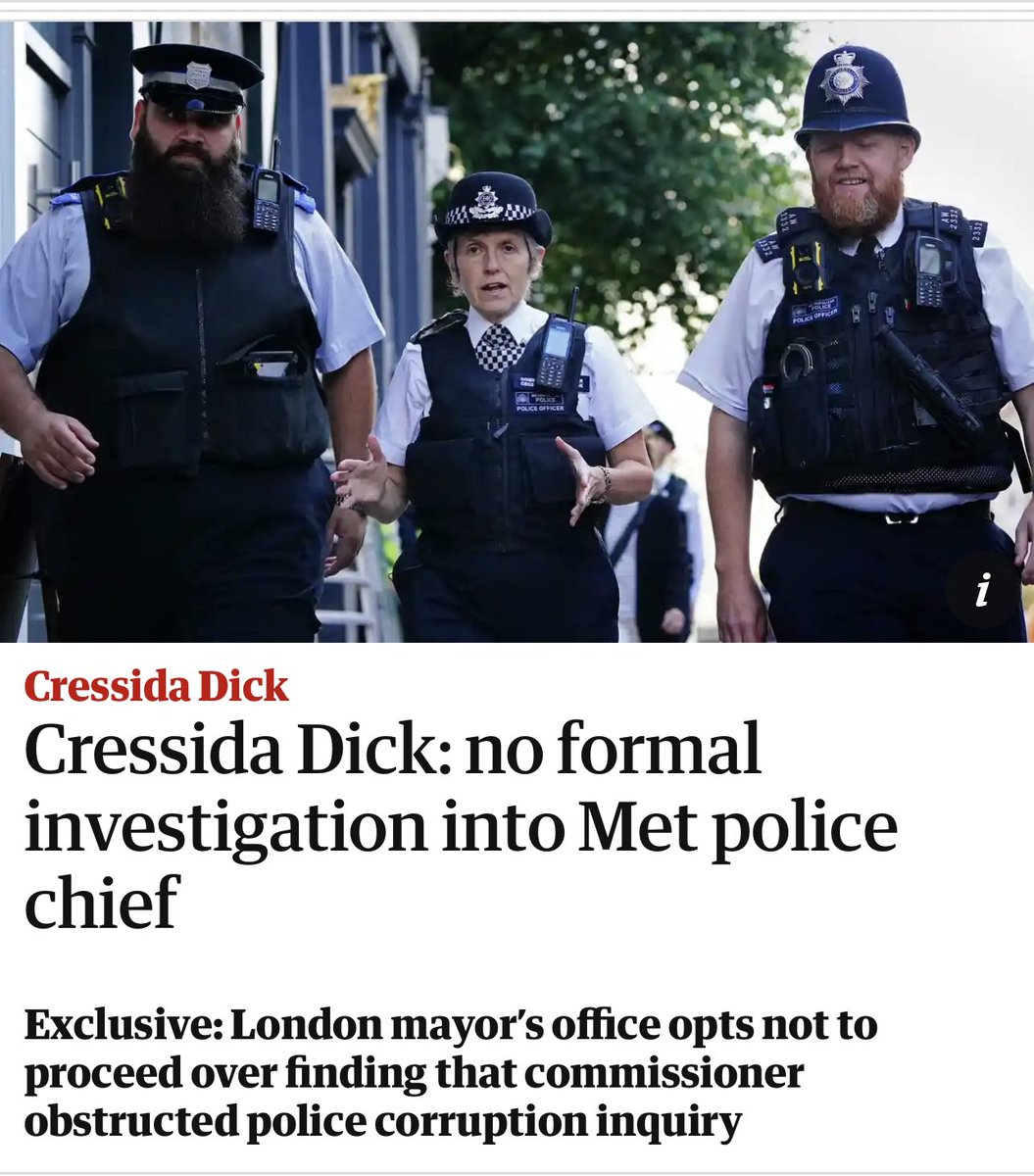 Before his murder, Daniel Morgan was allegedly about to break a story on senior Met police involvement in a major drugs smuggling operation. Cressida Dick blocked the inquiry and Labour Mayor Sadiq Khan has got her back. The state of the UK.