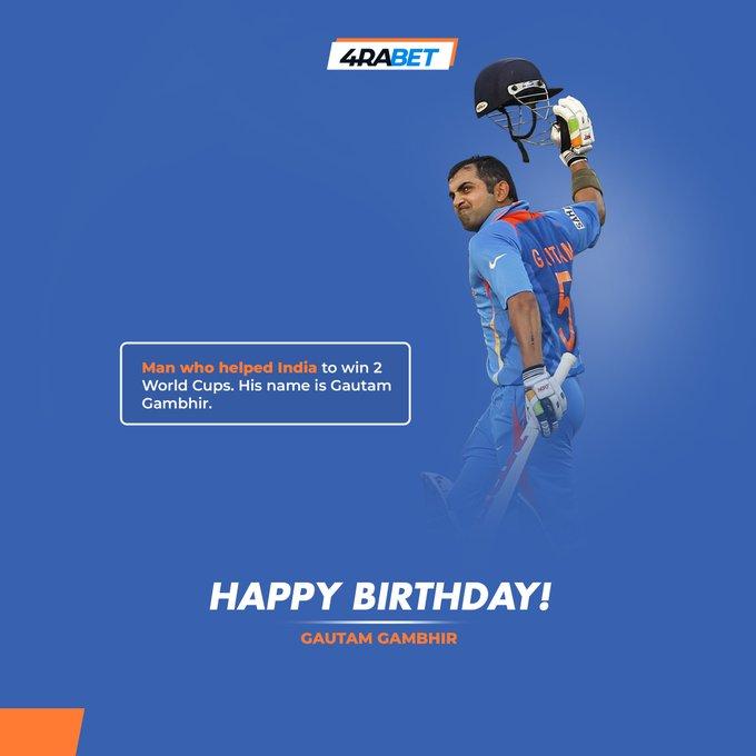 Happy Birthday, Gautam Gambhir   A top class cricketer, a great human being. Wishing him all the success!