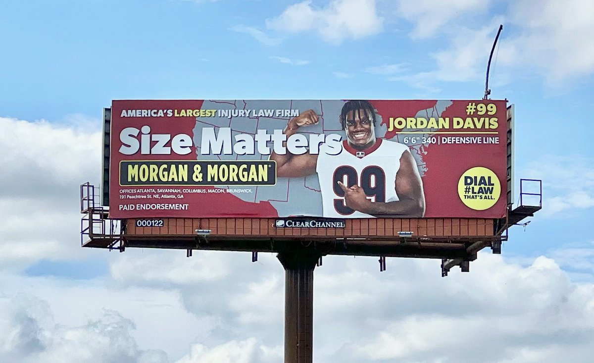 Excited to team up with @ForThePeople, check me out on some of their billboards around Georgia! #NIL #ad