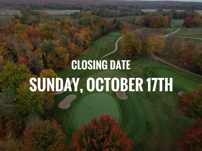 Our closing date is this coming Sunday. Still a few days to enjoy some fall golf!