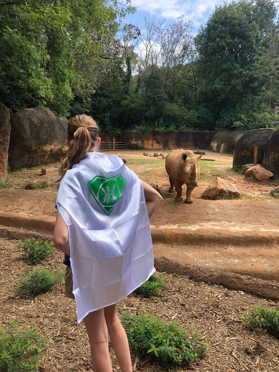 Big or small, old or young—we are celebrating all our amazing heroes today! Happy #CapeDayATL from Mumbles and Amanda at @ZooATL. 🦏
