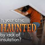 Do you hear something spooky upstairs or is it just a draft? Insulate your attic hatch with weather-stripping to retain heat in your home while keeping cold air and ghosts out.