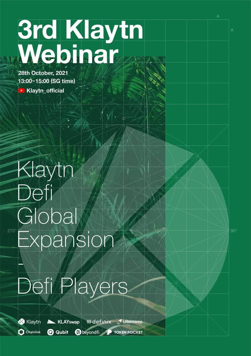 We are delighted to announce the upcoming Klaytn #DeFi Webinar with special #Airdrop campaigns. The 1st airdrop will be conducted in #Klaytn Official Telegram channel (t.me/Klaytn_EN) Please stay tuned on our Twitter for updates about the webinar!